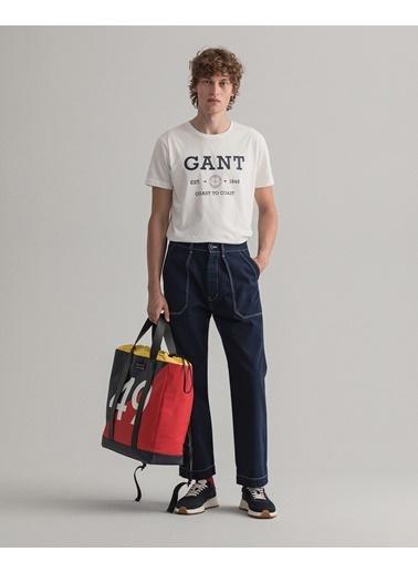 Gant Erkek Krem T-Shirt Krem